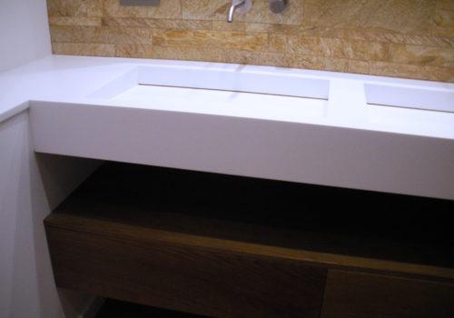 Mobile bagno in rovere tinto