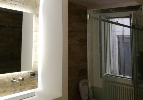 Specchio bagno con luce a led
