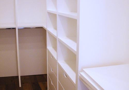Cabina armadio laccata bianca opaca